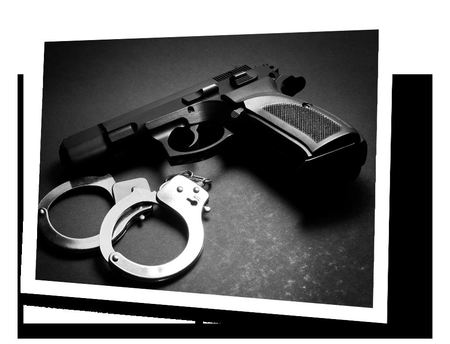 handgun and cuffs