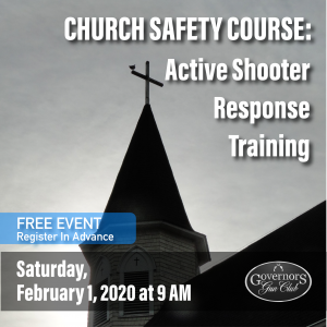 Church Safety Course: Saturday, February 1
